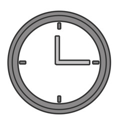 Time clock watch vector