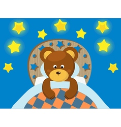 Toy bear and stars vector