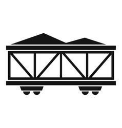 Train cargo wagon icon simple style vector
