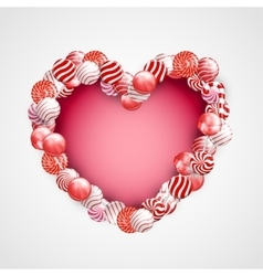 Valentine day lollipop vector