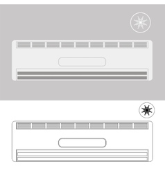 Wall-mounted Air Conditioner vector