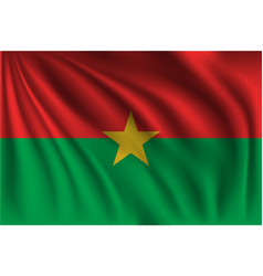 Waving burkina faso vector