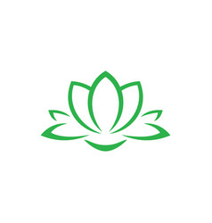 abstract lotus logo vector image vector image