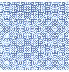 arabic seamless blue pattern ramadan kareem vector image