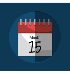 Calendar payday month vector image