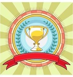 Champion Circle Badge Template vector image