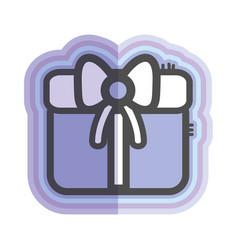 figure gift present with ribbon decoration to vector image vector image