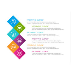 flat colorful abstract infographic six options vector image vector image