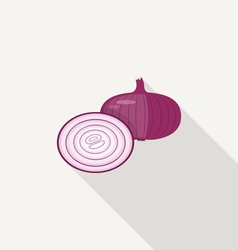 Onion Flat Icon vector image