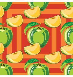 seamless pattern of green apple vector image vector image