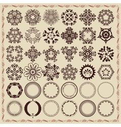 Set of vintage design elements and frames vector image