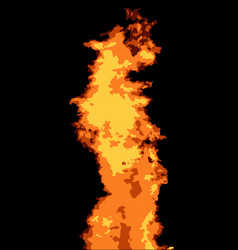 abstract fire background vector image vector image