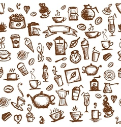 Coffee time seamless background for your design vector image