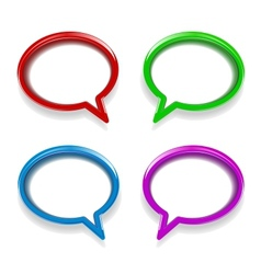 Colorful glossy speech bubbles vector image