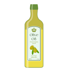 olive oil bottle of natural oil organic liquid vector image