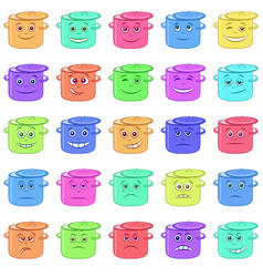 pans smilies vector image