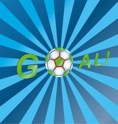 Shout a goal vector image