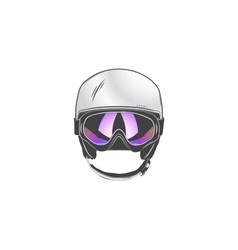 Sports helmet with goggles protective helmets for vector