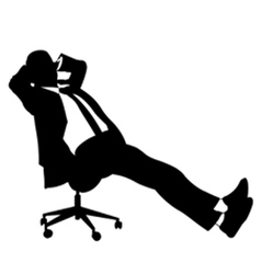 businessman sitting on chair vector image vector image