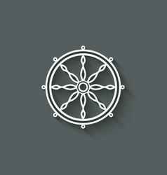dharma wheel design element vector image