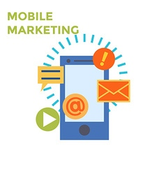 Flat design Mobile Marketing Icon vector image