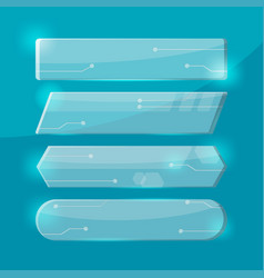 glass technology border collection set vector image