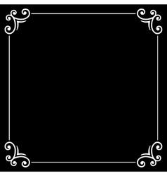 Retro Silent Movie Calligraphic Frame on Black vector image