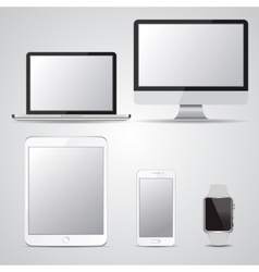 Set of blank screen devices Monitor laptop vector image