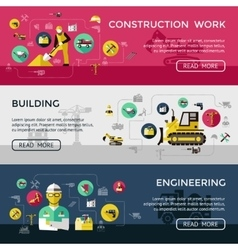 Construction Banner Set vector image vector image
