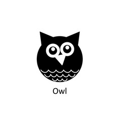 funny owl icon silhouette icon vector image