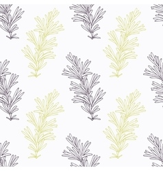 Hand drawn rosemary branch stylized black and vector image vector image