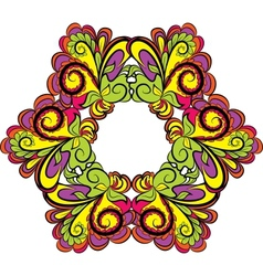 Hexagonal vivid floral pattern vector image vector image