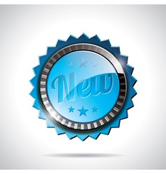 New Labels with shiny styled design vector image