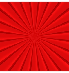 Red abstract rays circle background vector image