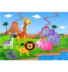 safari animal cartoon vector image
