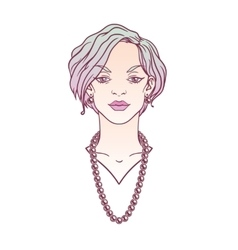 Stylish beautiful lady with jewelry vector image vector image