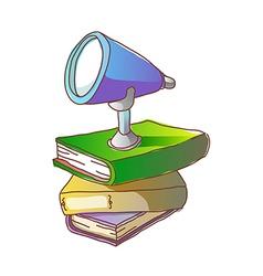 A telescope on a book vector