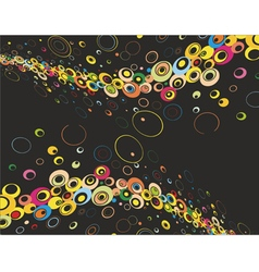 Abstract background black vector image