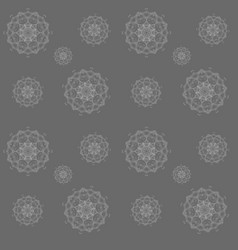 Abstract seamless pattern in gray color vector