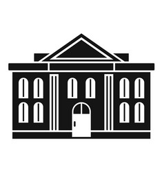 Administrative courthouse icon simple style vector