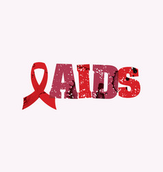 Aids concept stamped word art vector