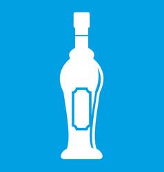 Alcohol bottle icon white vector