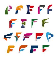 alphabet letter f modern font for branding design vector image