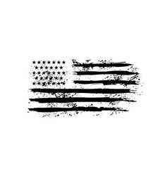 American flag in grunge style design element vector