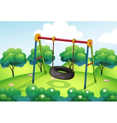 An empty park vector