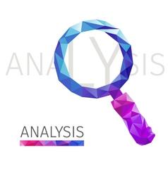 ANALYSIS polygon vector image