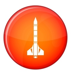 Atomic rocket icon flat style vector
