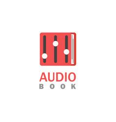 Audio book logo vector