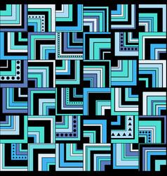 background with squares circles and triangles vector image