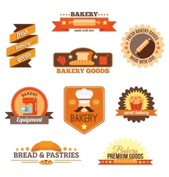 Bakery label set vector